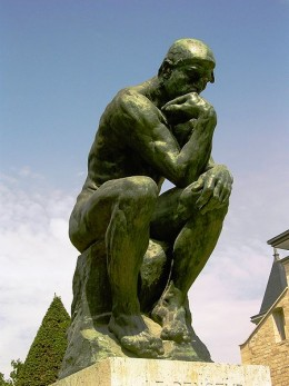 "Rodin's ""The Thinker"" thinking about new topics for hubs"