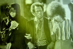 Miles at the funeral of Jimi Hendrix