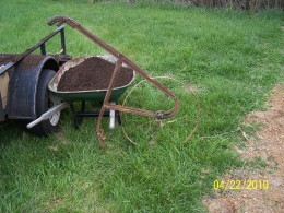 I found this lay off plow at a local flea market for $75 dollars. I prefer it because it is all steel. You can tell by the rust color.