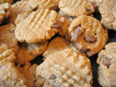 Chopped Up Bunny Chocolate Chip Peanut Butter Cookies