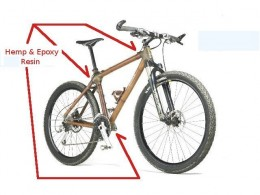 Bamboo and Epoxy Bike with Call-outs