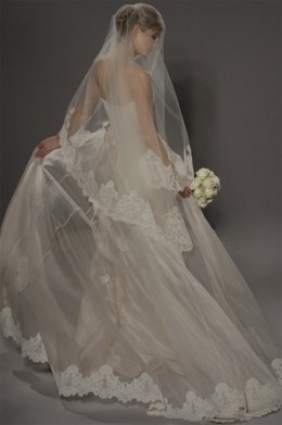 Mantilla Wedding Veil. Mantilla Veils come in different lengths and designs