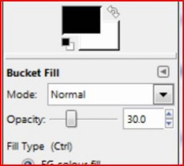 The Opacity Slider - set this to 30%
