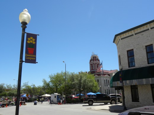 Historic Lampasas Texas Square