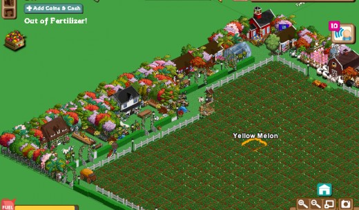 Here's my friends farm, that I gave a make-over much bigger than mine