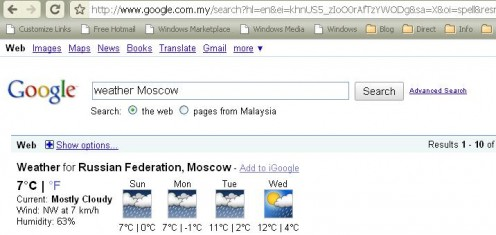 Moscow's weather