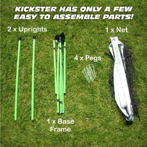 Kickster portable soccer goals are incredibly easy and quick to set up!