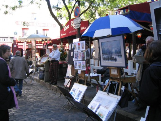 Artists on the streets of Montmartre