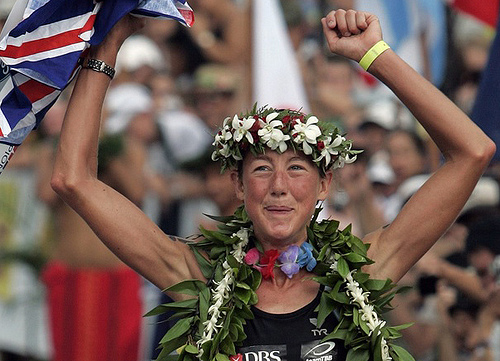 Chrissy Wellington winning Ironman World Championship