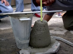 slump test for fresh concrete