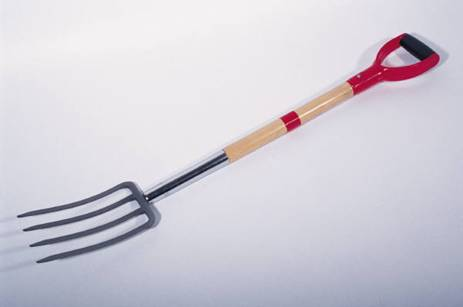 A garden fork is one of your best friends.