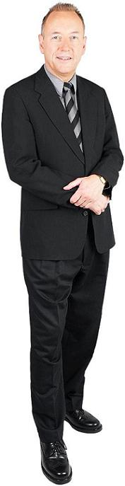 Dress to impress with a typical black suit and tie.
