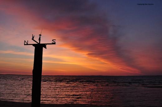 Sunday's sunrise on Whitefish Bay looking east towards Canada.
