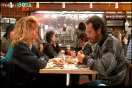 """When Harry Met Sally-After Meg Ryan fakes an orgasm in a restaurant, the woman in the background (Director Rob Reiner's mother in real life) says to the waitress: """"I'll have what she's having."""""""