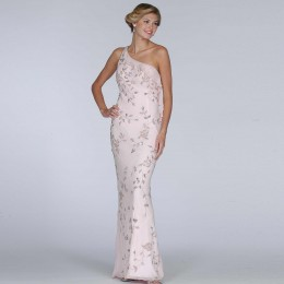 photo credit: sears.com   Formal Gallery silk formal evening gown, pink prom dress (8341), on sale for $109, reg price= $179. Available in sizes extra small to medium