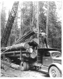 Early log truck.