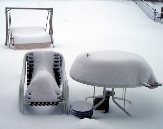Outdoor Furniture Covers can help if you don't want your furniture to get soiled or in case of freak snow storms!