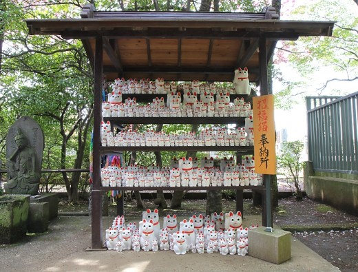 The display of Beckoning Cats at Gotokuji temple in Western Tokyo