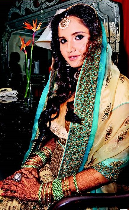 Sania in bridal dress