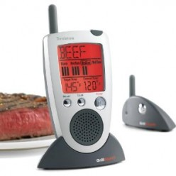 Grill Alert Meat Thermometer Wireless Data and Voice Reminders