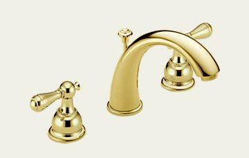 Delta Widespread C-Spout Faucet | Photo credit:  Delta Faucet