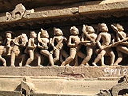 Sculptures on Kajuraho Temples