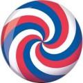 Brunswick Red White and Blue Swirl