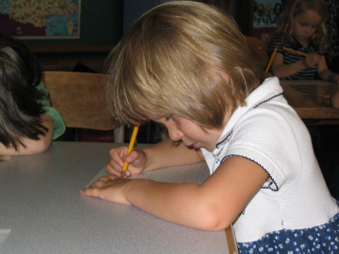 Teaching Children to write thank you notes improves penmanship
