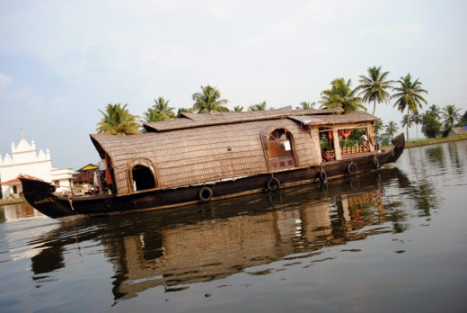House Boat At Alleppey, Kerala