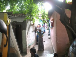 A Row of Slum Houses in the same area.Unauthorized Constructions on Govt Land.