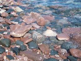 Rocks on shore of Presque Isle.  by Emily Glahn Eades