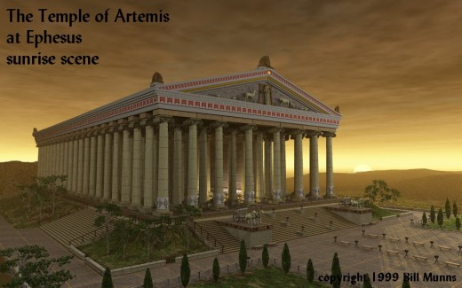 The Temple of Artemis as it must have looked in 41 BC.