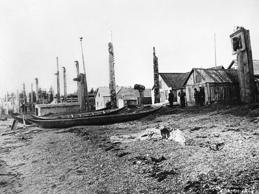 Old Massett photo from civilization.ca