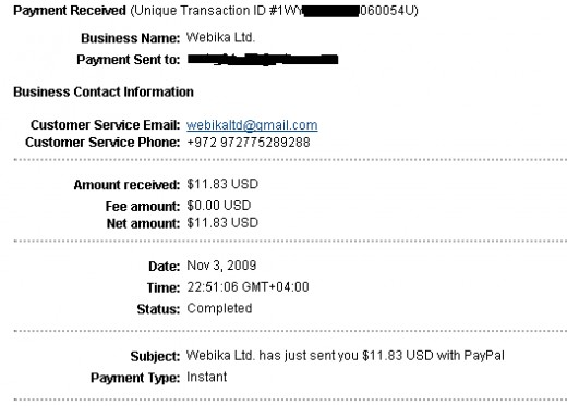 Proof of Bukisa payment which proves it is a legitimate way to make money online.
