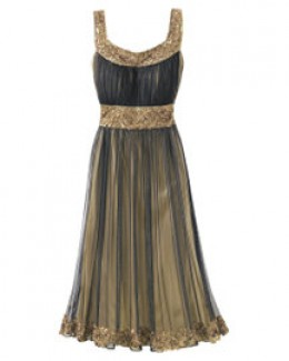 photo credit: spiegel.com      beaded dress, $179, black-multi, polyester, dry clean, imported, currently available in size 14 only