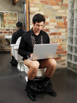 The beauty of passive income is that you can even earn while on the toilet!