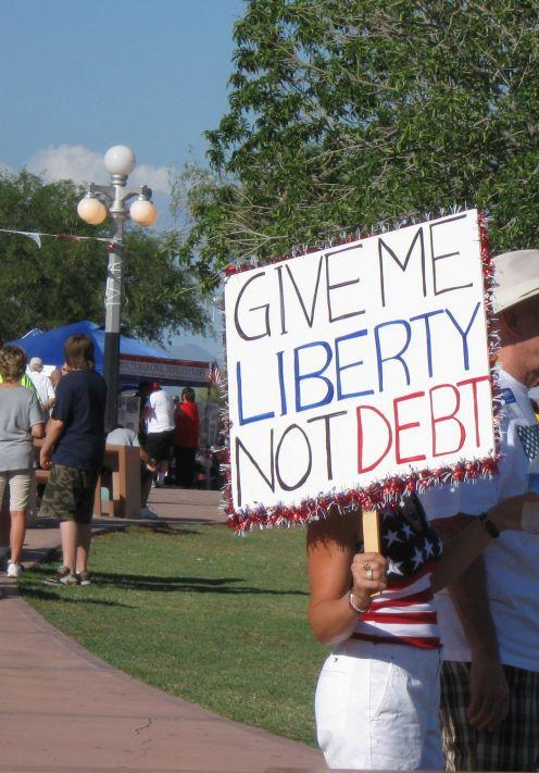 Sign at a Tea Party Rally