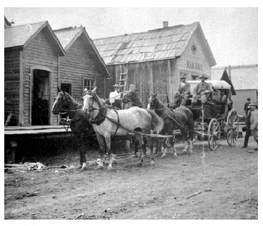 Barkerville in its heyday photo from wikimedia.org