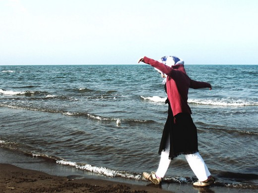 Caspian Sea waves