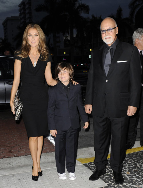 Rene Angelil, Celine Dion and their son