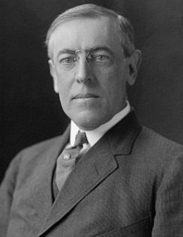 Woodrow Wilson. The evil President of The United States.