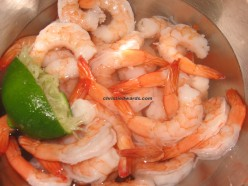 lime water rinse for shrimps to eliminate the fishy smell