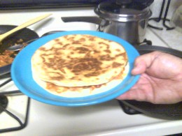 Super quick Quesadilla ready for sides!