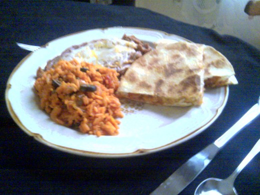 With my Spanish rice & beans it's a complete meal!