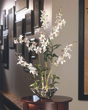 Say it with silk flowers. Who would turn down a beautiful silk orchid.