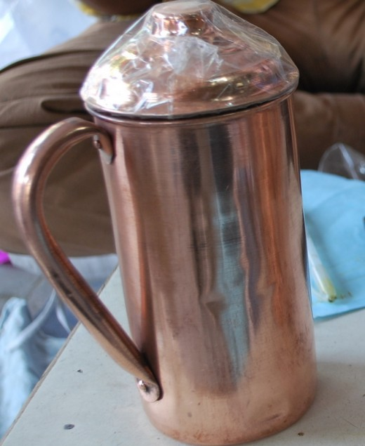 how to clean copper jug