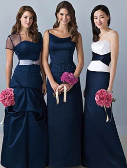 Bridesmaid Dresses/Alfred Angelo Separates Style Separates 6 Left: Bodice Style 6491 & Skirt MSKT-S      Center: Bodice Style 6104 & Skirt MSKT-M Right: Bodice Style 6489 & Skirt MSKT-D      Shown in Navy Available in 55 colors Sizes: 2 to 20, 16W to