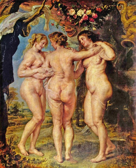 "Wikimedia Commons. ""The Three Graces"", Rubens. Aren't they beautiful?"