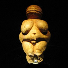 Willendorf Venus, the most famous of all steatopygian venuses.