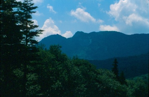 Grandfather Mountain, North Carolina from the Blue Ridge Parkway near Mile 300.